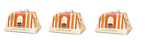 3x Tre Marie Panettone Milanese con canditi con fruta confitada, pasas y cedro 1kg