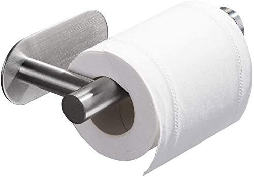 Eyein Soporte de papel higiénico, Sostenedor de papel adhesivo medio abierto SUS304 de acero inoxidable sin perforación a prueba de herrumbre para baño Hotel cocina baño...