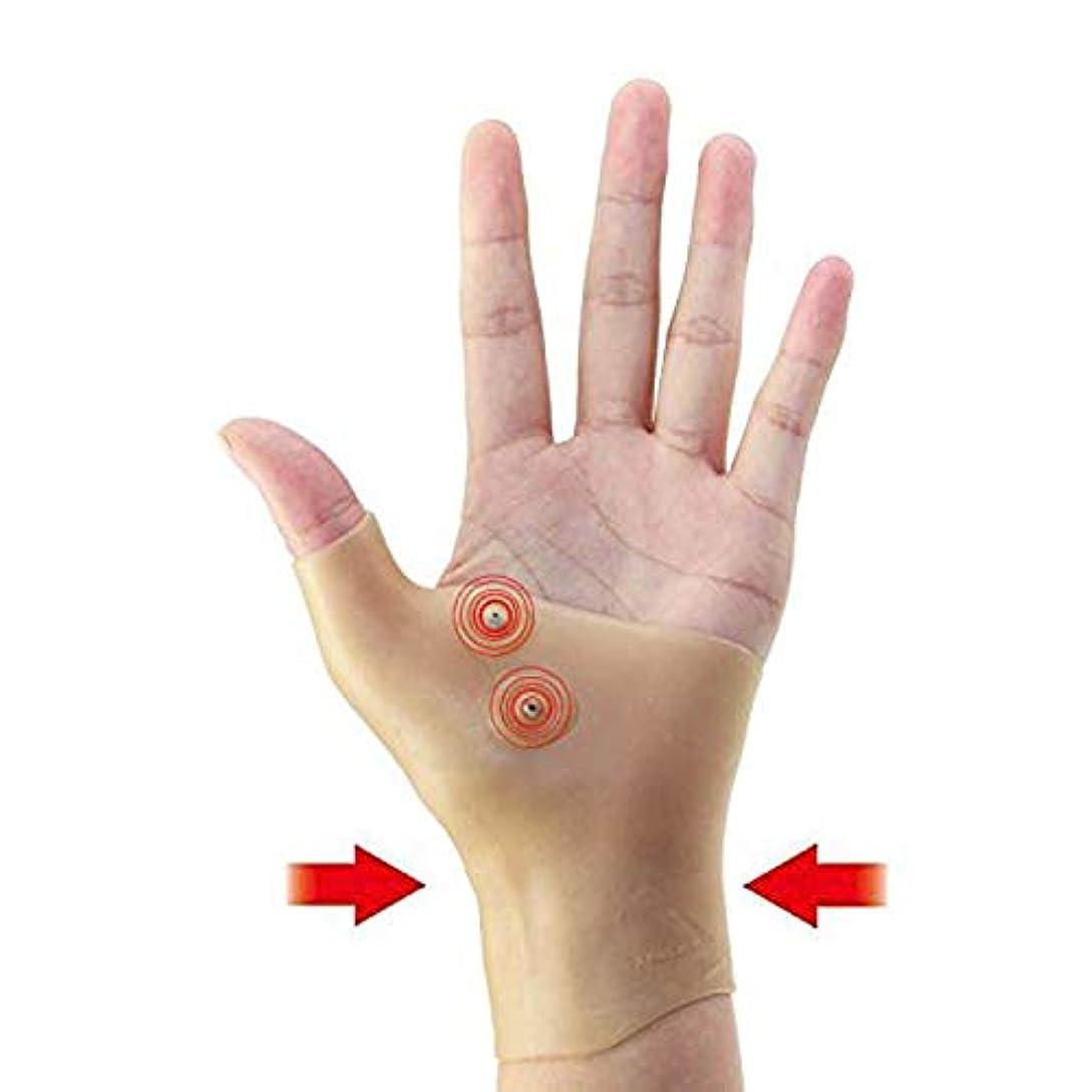 ルアー滞在学生磁気 圧縮手袋 - Delaman 指なし 手袋、健康手袋、圧着効果、疲労減少、健康関節、磁気療法、手首サポーター、ユニセックス