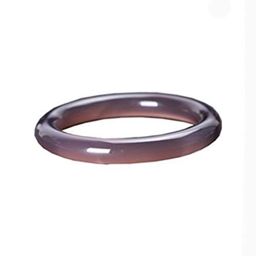 Yarmy - Pulsera de ágata Violeta calcedonia Morada Natural para Mujer, 58mm