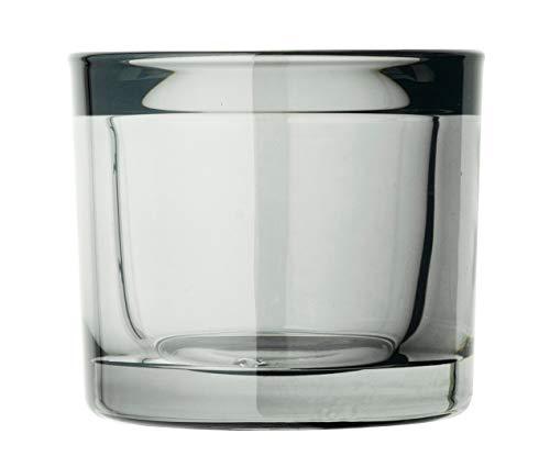 Blomus - MIMO- Windlicht/Teelichthalter/Kerzenhalter - Smoke Grau - Glas - (DxH): 6 x 6,5 cm