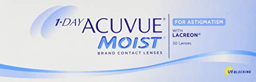 Acuvue 1-Day Acuvue Moist For Astigmatism Tageslinsen weich, 30 Stück/ BC 8.5 mm / DIA 14.5 mm/ CYL -1.25 / ACHSE 150 / -0.5 Dioptrien