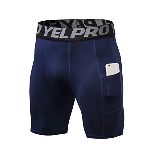 Toumett - Yoga-Shorts für Herren in Marineblau, Größe XXL