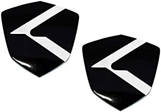 New (2pc Set) K Shield Emblems 40mm x 40mm Accent Fender Trunk Grill Door Pillars for KIA Models (Loden)