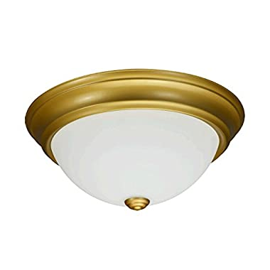 Luxrite LED Dome Ceiling Light, Gold Flush Mount Fixture, 13-Inch, 3000K Soft White, 1000 Lumens, Energy Star, Dimmable, Perfect for Entryway, Living Room, and Hallway Lighting