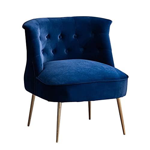 Duriano Ohrensessel aus Samtstoff, gepolsterter Accent Lounge Chair mit Metallbeinen, Moderner Beistelltisch Freizeitstuhl für Schlafzimmer, Wohnzimmer und Büro