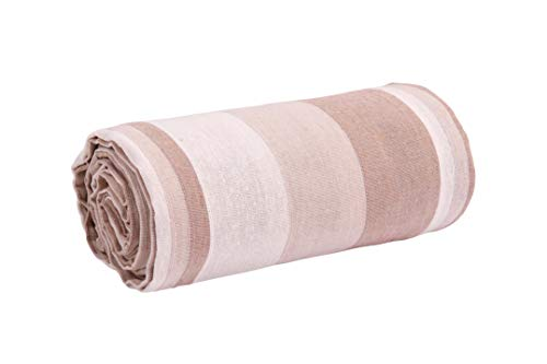 HomeLife – Funda de sofá a rayas – Sábana cubretodo de color puro algodón – Granfoulard colcha para cama individual/matrimonial/1 plaza y media y maxi – Fabricado en Italia