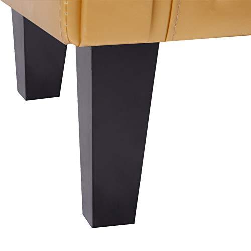 CCLIFE Sillón Chesterfield -Sofá Chesterfield Diseño clásico sillon chester para sala, comedor, oficina, butaca sillon salon, Color:Oro + Banquillo