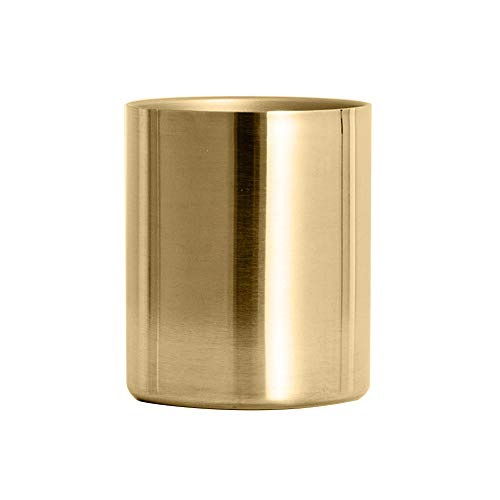 XdiseD9Xsmao Cilinder pen bloemstuk opbergpotlood make-up penseel houder container goud