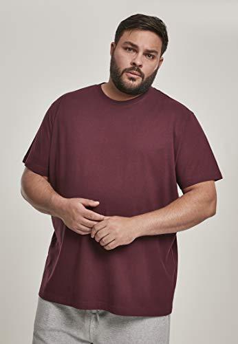 Urban Classics Basic tee Camiseta, Rojo (Redwine 02243), L para Hombre