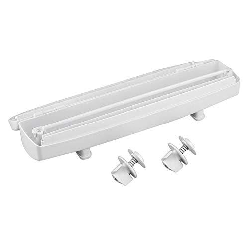 #N/V La cocina de plástico de la comida de la envoltura del dispensador de papel de aluminio cortador de la película conservante herramienta