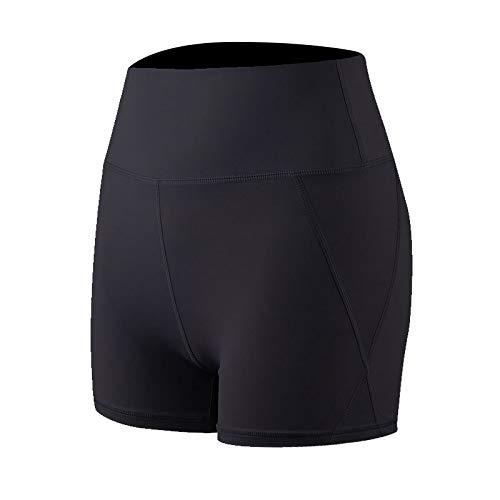 Fainash Pantalones Cortos de Yoga de Levantamiento de glúteos con Control de Abdomen de Cintura Alta para Mujer L