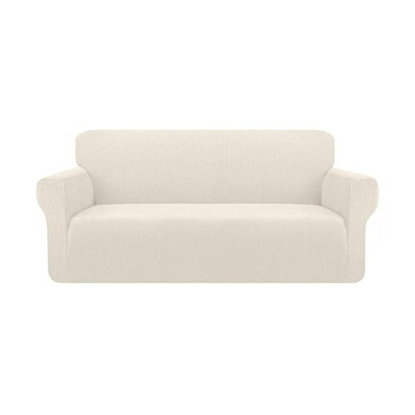 Kiduck High Stretch Couch Cover Form Fit Super Soft Sofa Slipcover for 3 Cushion...