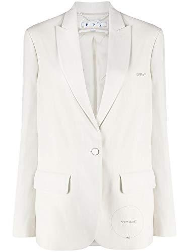 Luxury Fashion | Off-white Dames OWEF032S20FAB0050100 Wit Katoen Blazers | Lente-zomer 20