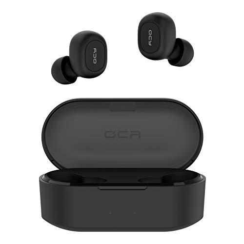 QCY Audifonos Bluetooth 5.0 con Funda de Carga 800 mAh, T1s Auriculares inalámbricos Deportivos con Micrófono, Total 36 Horas Playtime, para iPhone Samsung iPad y Teléfono...
