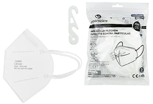 Mascarilla FFP3 NR De Protección Respiratoria Autofiltrante, [Agarre Oreja], Mascarilla Certificada/Homologada [No Reutilizable], Eficacia Filtración  99%, Norma EN149:2001+A1:2009 (20)