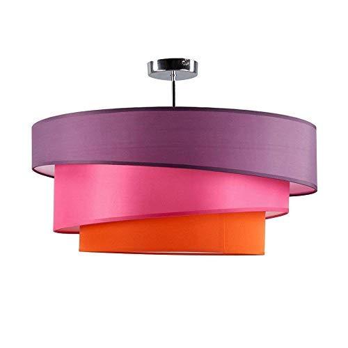 Deckenleuchte Modern Stoffschirm, Kinderzimmer Schlafzimmer Lampen, Decke Beleuchtung Dekoration, Deckenlampe 3 Farbe Lampeschirm - Violett...