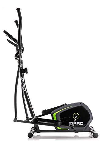 Zipro Erwachsene Magnetischer Crosstrainer Neon bis 120kg Eine Schwungmasse von 7 kg, Schwarz, Einheitsgröße