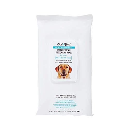 Well & Good Hypoallergenic Deodorizing Dog Wipes,...