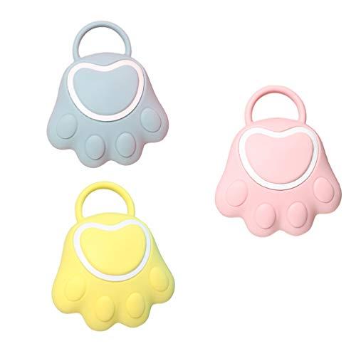 HEALLILY Cepillo de Baño de Silicona para Bebés Depurador de Baño para Niños Cepillo de Cerdas para Limpieza de Cabello Corporal Y Cuero Cabelludo