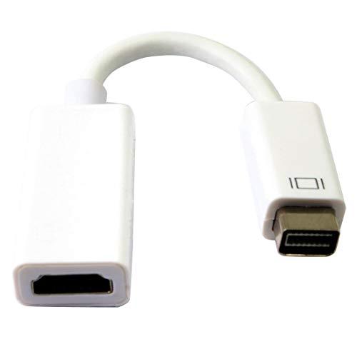Adaptador de video mini DVI a HDMI,Mini DVI macho a cable HDMI hembra MacBook Mini DVI Adapter para Macbooks e iMacs- M / F