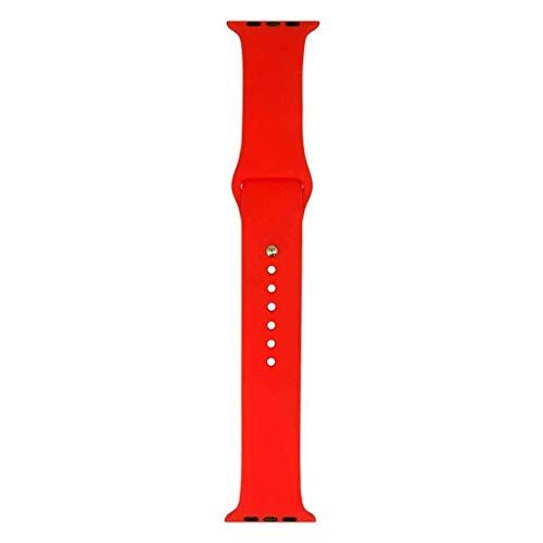 Pulseira De Silicone Para Apple Watch Sport, Iwill, Capa Anti-Impacto, Vermelho, 42 mm