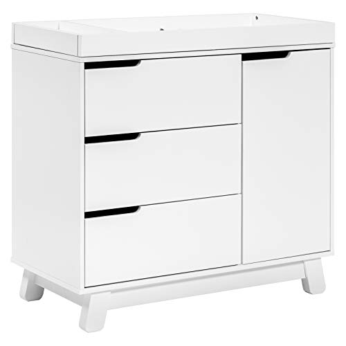 Product Image of the Babyletto Hudson 3-Drawer Changer Dresser with Removable Changing Tray in White