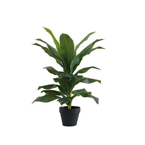 LOMJK Las Plantas Artificiales Moderna Simple árbol en Maceta Oficina Árbol de la Planta decoración del árbol de verdor Simulación Falsos Plantas de macetas (Color : B, tamaño : Small)