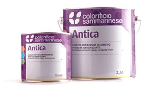 Smalto catalizzabile acrilico antiruggine decorativo antichizzante Antica Colorificio Sammarinese - Ferro battuto 0,75 lt
