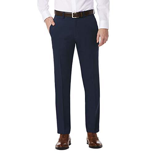 Kenneth Cole REACTION Men's Urban Heather Slim Fit Flat Front Dress Pant, Blue, 36Wx29L