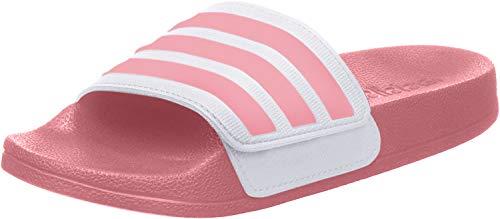 adidas Unisex-Kinder Adilette Shower ADJ K Leichtathletik-Schuh, Glory PINK/Glory PINK/FTWR Weiss, 35 EU
