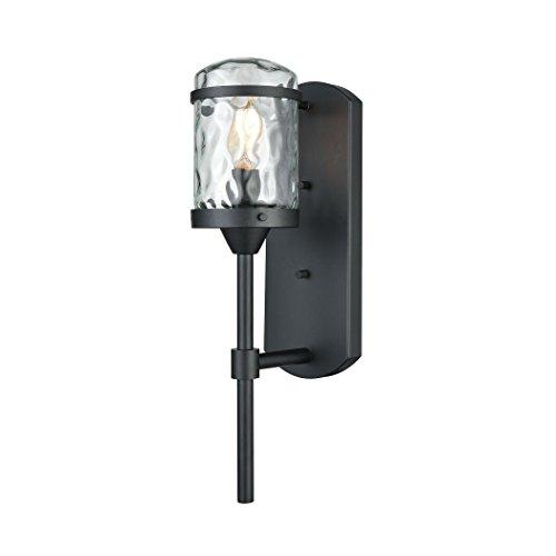 Elk Lighting 45400/1 Torch 1 Outdoor Charcoal Black Sconce