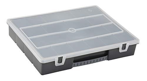 Stanley Organizer (Zoll166 Zoll, 36.5x6.4x29.1 cm, 18 Fächer, transparenter Deckel) 1-92-071