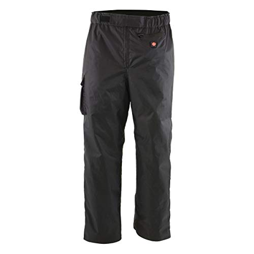 Milwaukee Leather MPM5720DUAL Men's Black 'Heated' Textile Water Resistant Over Pants (Battery Pack Included) - Large