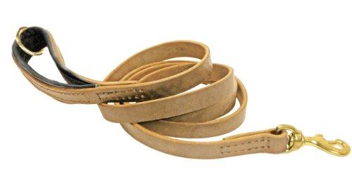 Dean & Tyler Messing-Leine, weich, mit schwarzer Polsterung und Ring am Griff, 1,8 m x 1,9 cm