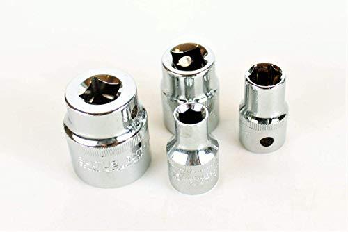 SALTUS 1/2' dopsleutelset 9-27 mm professionele moer CV 4-delige set 5201