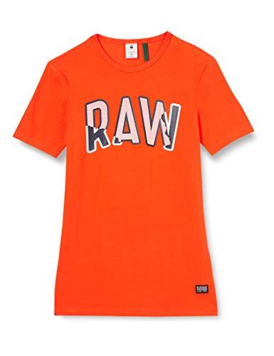 G-STAR RAW Multi Layer Raw Graphic Slim Camiseta, Bright Acid B770/B443, Large Mens
