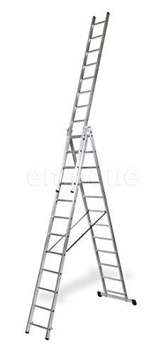 ALTIPESA Escalera Profesional de Aluminio Triple Tijera un Acceso con Tramo Extensible 3 x...