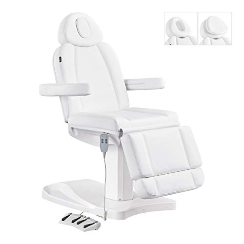 Facial Beauty Bed Medical Aesthetic Tattoo Procedure Bed With Electrical Adjustments - Ink-White