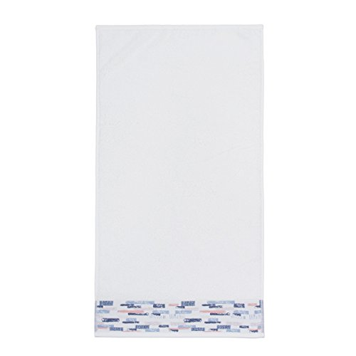 Sancarlos - Toalla con bordado Ladrillos 500 gr/m2, Color Blanco, Ducha, 70x140 cm