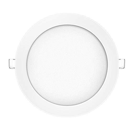 Kefflum LED Panel Deckenleuchte,Dimmbar 18W Warmweiß(3000K) 148~1480lm, ersetzt 60W Leuchtstoffröhre,Leuchte Deckenlampe Ultraslim Einbaustrahler, Ø225mm Lochgröße:205-215mm, 3-Jahre Garantie