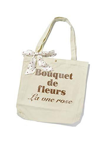 SPINNS トートバッグ BOUQUET エコバッグ マザーバッグ 買い物 マイバッグ かわいい プレゼント アイボリー ブラウン ベージュ ピスタチオ スピンズ spinns アイボリーxブラウン -