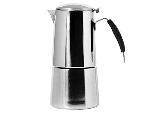 Ilsa Omnia Kaffeemaschine Espresso, mit Induktionsboden,Edelstahl, Silber, für 6 Tassen