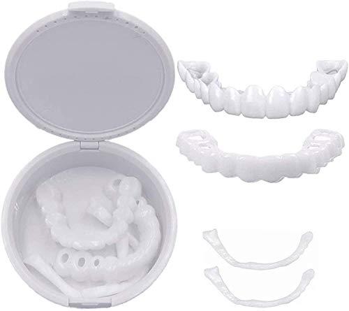 MAFUL 6 Pares de chapas en los Dientes, los Dientes Superiores e Inferiores a los Dientes cosméticos de la Sonrisa encapsulan Las carillas dentales de la flexión Inferior Superior.