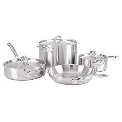 Viking Professional 5-Ply Stainless Steel Cookware Set, 7 Piece