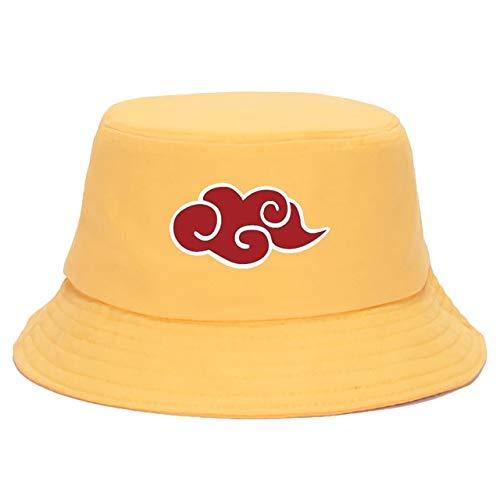 Sombrero de Verano Estampado Mujeres Hombres Gorra de Cubo Visera Sombrero de Pescador Sombrero para el Sol-yellow6-One Size