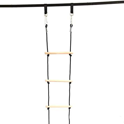 Xbshmw Outdoor 5 Schritte Klettern Polyester Seil Leiter für Kinder, Indoor Suspension Leiter Spielzeug, Baumleiter Spielgeräte Kletternetz