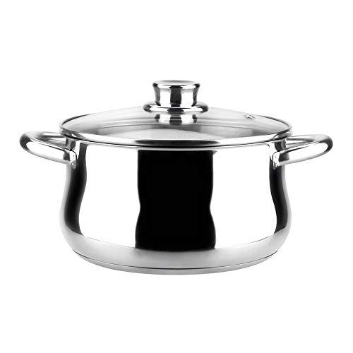 MAGEFESA Ideal – La Familia de Productos MAGEFESA Ideal está Fabricada en Acero Inoxidable 18/10, Compatible con Todo Tipo de Fuego. Fácil Limpieza y Apta lavavajillas. (Olla, 18_cm)