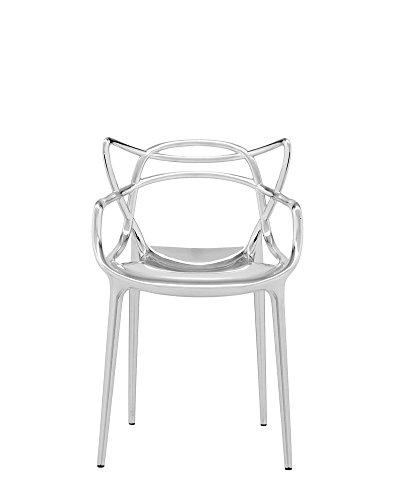 Kartell - Masters - Chrom - Philippe Starck mit Eugeni Quitllet - Design - Esszimmerstuhl - Speisezimmerstuhl - Gartenstuhl - Küchenstuhl - Terrassenstuhl