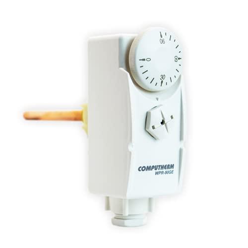 COMPUTHERM Termostato con Vaina de inmersión WPR-90GE, Controlador termostático para Sistemas de calefacción y refrigeración, medición invasiva, supervisión de circuitos de calefacción